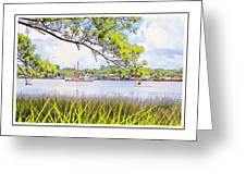 Trawler Waterscape Greeting Card