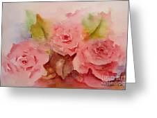 Tre Rose Greeting Card