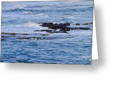 Treacherous Shorebreak Greeting Card