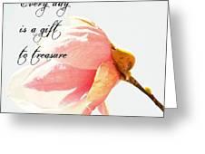 Treasure Each Day Tulip Tree Flower Greeting Card