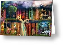 Fairytale Treasure Hunt Book Shelf Variant 2 Greeting Card