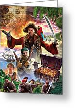 Treasure Island Greeting Card by Steve Crisp