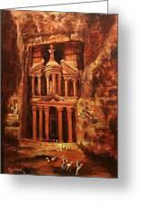 Treasury Of Petra Greeting Card by Tom Shropshire