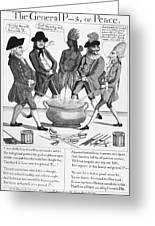 Treaty Of Paris Cartoon Greeting Card
