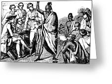 Treaty With Iroquois Indians Five Greeting Card
