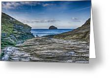 Trebarwith Strand Cornwall Greeting Card