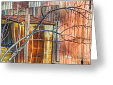 Tree And Rust Greeting Card