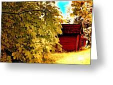 Tree And Sky Greeting Card