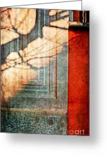 Tree Branches Shadow On Wall Greeting Card