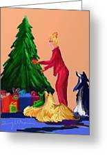 Tree Decorating Greeting Card