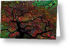 Tree Fabrica Abstract Graphic Greeting Card
