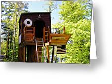 Tree House Boat 2 Greeting Card