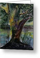 Tree In A Dream Greeting Card