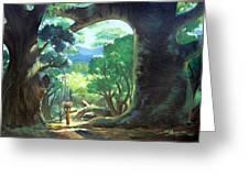 Tree Landscape Greeting Card