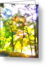 Tree Leaves Greeting Card