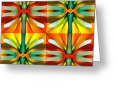 Tree Light Square Pattern Greeting Card