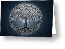 Tree Of Life Nova Blue Greeting Card