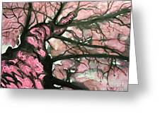Tree Of Pink Greeting Card