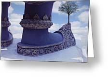 Tree On Shoe Greeting Card