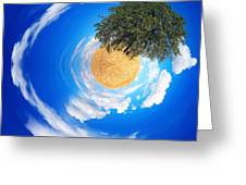 Tree Planet  Greeting Card