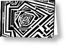 Tree Rings Abstraction Maze  Greeting Card