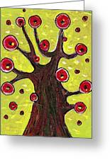 Tree Sentry Greeting Card by Anastasiya Malakhova