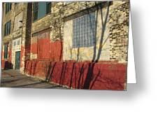 Tree Shadow On Brick 2 Greeting Card