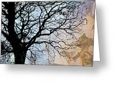 Tree Skeleton Layer Over Opaque Image Greeting Card