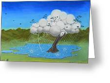 Tree Storm Greeting Card