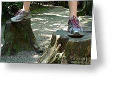 Tree Stump Stilts Greeting Card
