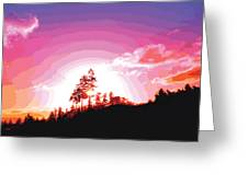 Tree Top Sunrise Greeting Card