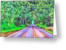 Tree Tunnel Kauai Greeting Card