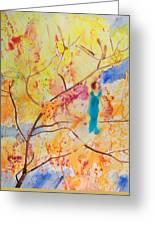 Tree Walking Greeting Card