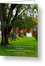 Tree With Scripture Greeting Card