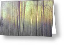 Trees Abstraction Greeting Card