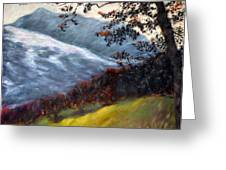 Trees And Hills Greeting Card