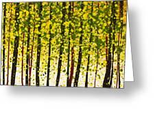 Trees At Twilight Xviii Greeting Card