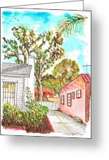 Trees Between Two Houses In West Hollywood - California Greeting Card