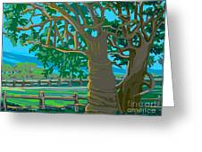 Trees In Love Greeting Card