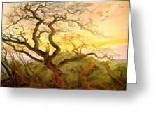 Trees Of Crows Greeting Card