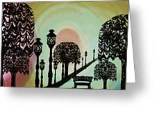 Trees Of Lights Greeting Card