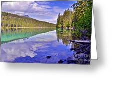 Trees Reflected At Valley Of The Five Lakes Greeting Card