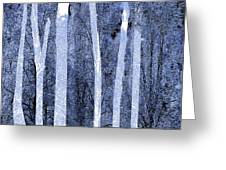 Trees Square Greeting Card