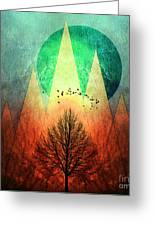 Trees Under Magic Mountains I I Greeting Card