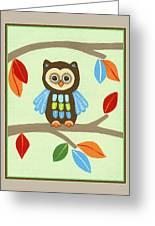 Treetop Friends - Owl Greeting Card