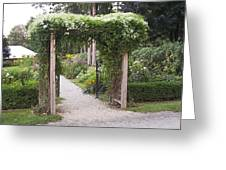 Trellis At Longfellow's Wayside Inn Greeting Card
