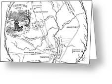 Trenton Map, 1777 Greeting Card