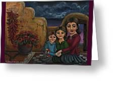 Tres Mujeres Three Women Greeting Card by Victoria De Almeida