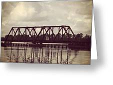 Trestle On The Pamlico River Greeting Card