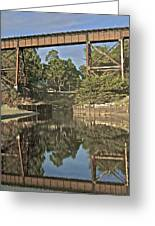 Trestle Over Reflecting Water Greeting Card